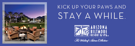 Kick up your paws and stay a while. Arizona Biltmore Resort and Spa. The Waldorf Astoria Collection.