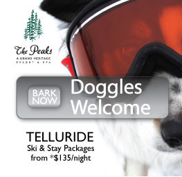 The Peaks - Doggles Welecome - Bark Now - Telluride Ski & Stay Packages from $135/night